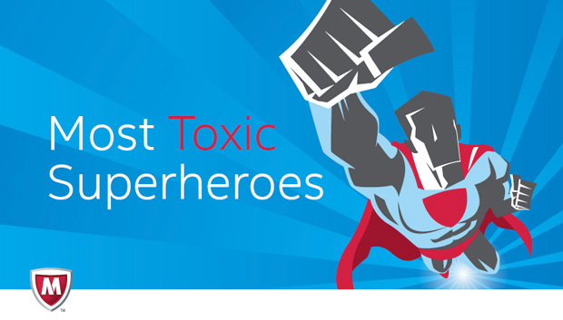 McAfee Most Toxic Superheroes