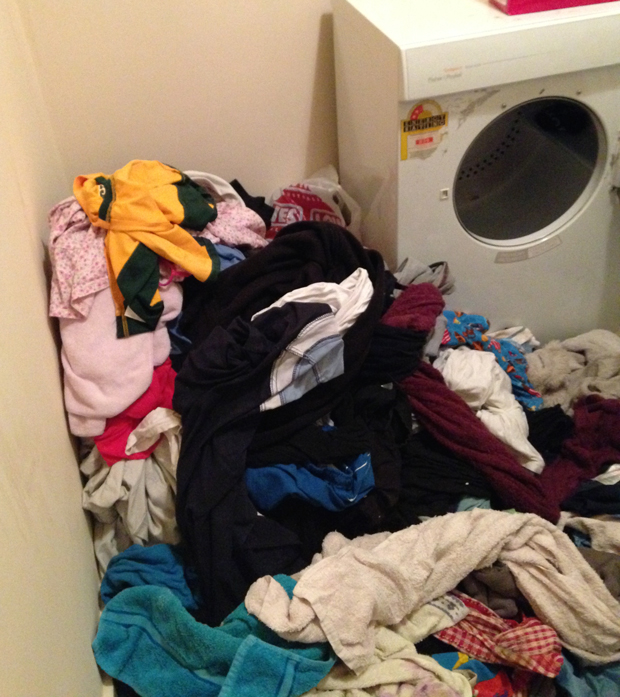 This could be my laundry....mmm actually it is my laundry - eek