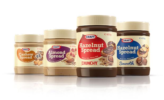 ... first crunchy hazelnut spread, along with three other nut spreads