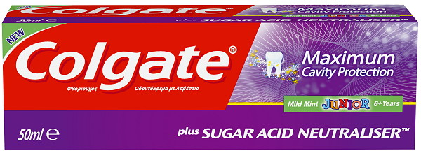 Colgate Maximum Cavity Protection Toothpaste plus Sugar Acid Neutraliser Junior