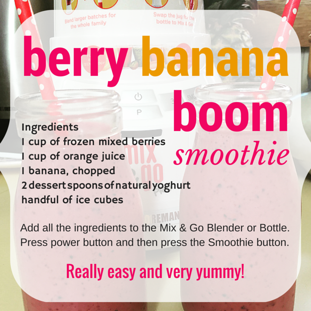 Berry banana boom smoothie