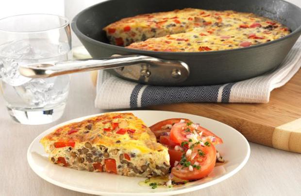 Lentil and Tuna Frittata Recipe