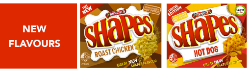 New Shapes Flavours