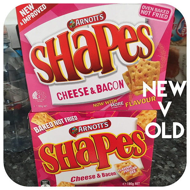New and old Shapes Packaging
