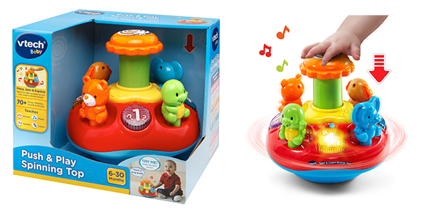 Push spin baby toy